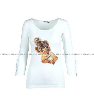 DURANTI DURANTI - T-shirt leopard HAT 3/4 W