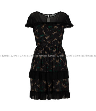 LIU JO LIU JO- IMPULSE,georgette  -  DRESS - TIGER JUNGLE - W69407-T0110