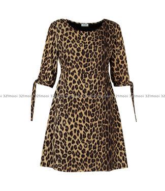 LIU JO LIU JO - CREPE POLY MARTELLATO  -  DRESS - NATURAL LEOPARD - W69066-T8552