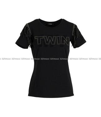 TWINSET MY TWIN TWINSET MY TWIN - T-shirt Nero studs - 192MP2450/006
