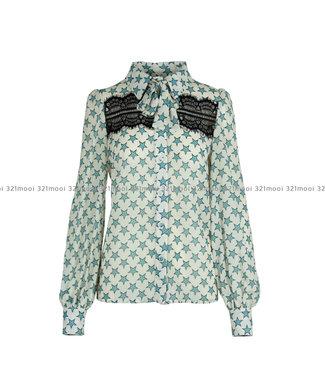 RELISH RELISH - hemd WOMANA M L FANTASIA STELLE - RDA1903009010 - 1933 BIRCH BEIGE