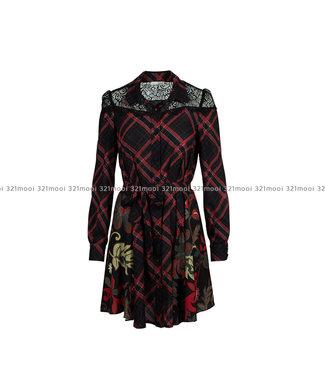 RELISH RELISH - Kleed CABRA CORTO M L + PIZZO  - RDA1909009023 - 1199 BLACK