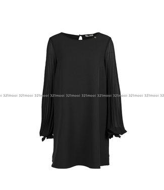 RELISH RELISH - Kleed PLIXY CORTO M L GEORGETTE PLISSE' - RDA1909006040 - 1199 BLACK