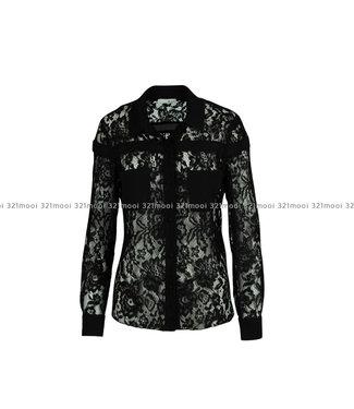 RELISH RELISH - hemd ANCIOLA M L PIZZO - RDA1903009011 - 1199 BLACK