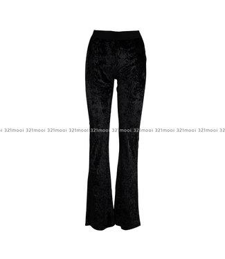 LEE AND ME LEE AND ME - G EDMONTON - Velvet Uni Trousers black velvet