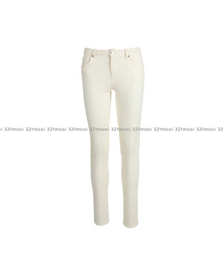 LIU JO LIU JO - B.UP COLOR SNUG,twill str  - PANTS - GESSO - WXX035-T7144