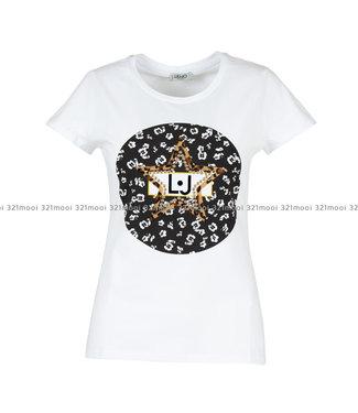 LIU JO LIU JO - T-SHIRT - JERSEY CO/EA+FLOWER LOGO  -  BIANCO OTTICO - W69446-J9944