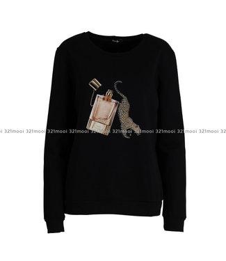 DURANTI DURANTI - Sweater Perfume Leopard SWF-BK
