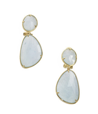 TITTO NEWHAVEN - earrings diamond  col. blue
