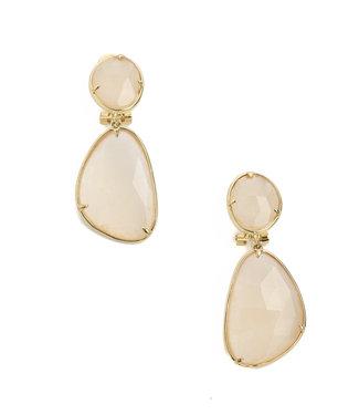 TITTO NEWHAVEN - earrings diamond col. salmon