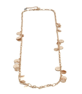 TITTO BILSTON - long alloy necklace with alloy and jelly beads - col. rose gold