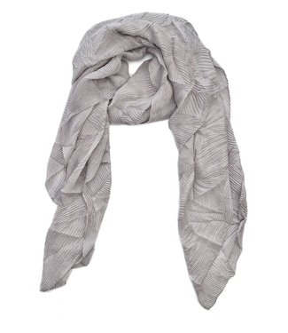 TITTO SKEEBY - SCARF - structured - col. silver