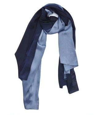 TITTO SPALDING - SCARF - plain bicolore - col. blue