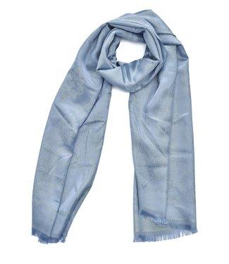 TITTO SEAFORD - SCARF - Tone on tone paisley - 100% poleyster - 180x70 - col. blue