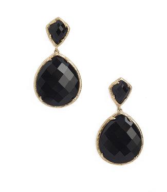 TITTO NESTON - earrings oval col. black