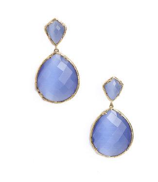 TITTO NESTON - earrings oval col. blue