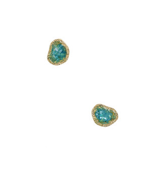TITTO HEDON - earrings natural stone on ear - col. turquoise
