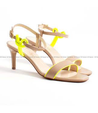 MARCH23 MARCH23 schoenen - Sandalen rock fondo champagne + Neon YELLOW