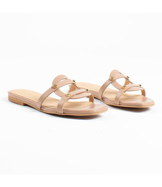 MARCH23 MARCH23 schoenen - Slippers YORK champagne leather (nude)