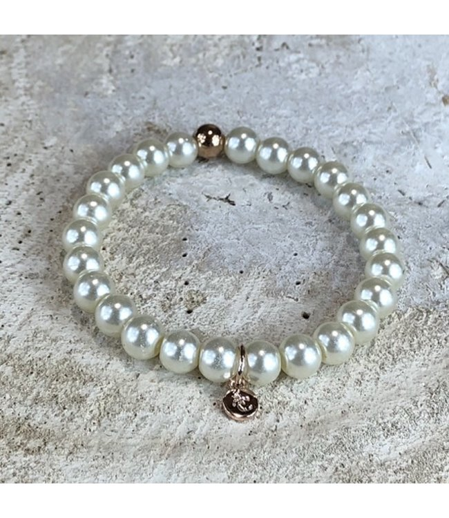 MIRACLES MIRACLES by Annelien Coorevits armband BIG WHITE FRESH WATER PEARLS - ACBRA080007