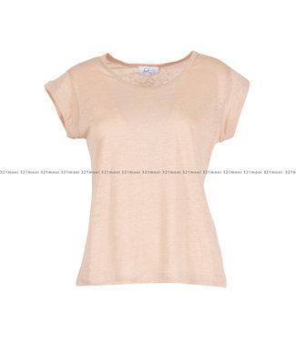 HEARTMIND HEARTMIND kledij-T-shirt HELLO LINEN NUDE