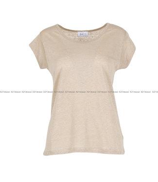 HEARTMIND HEARTMIND kledij-T-shirt HELLO LINEN TAUPE