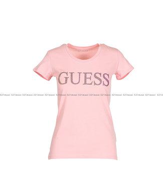 GUESS GUESS kledij T-shirt - SS RN CRYSTAL - W01I74J1300G615
