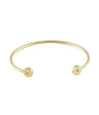 QUDO FAMOSA QUDO FAMOSA - armband Bangle BASSIC  G - 172780 GOLD