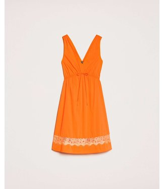 TWINSET MY TWIN Poplin dress with lace 20MT210A
