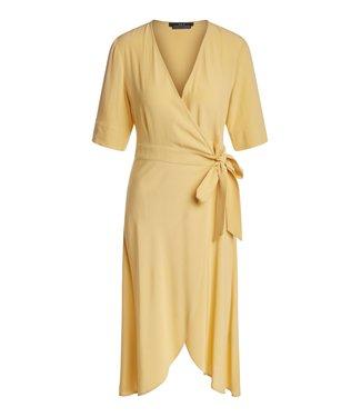 SET Feminine wrap dress in crêpe fabric