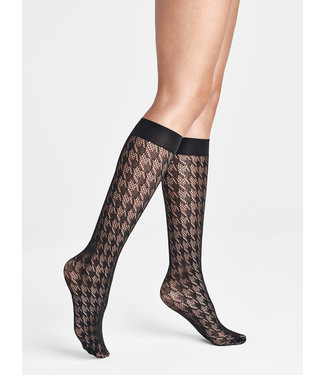WOLFORD WOLFORD - Net Dylan knee-highs black - 31570