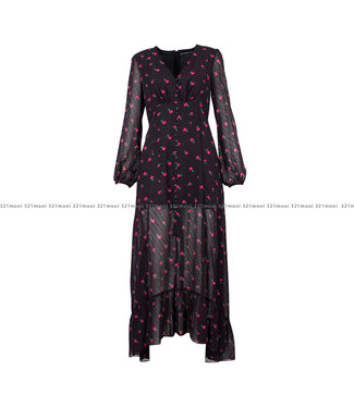 GUESS GUESS kledij - Kleedje DASHAMIRA  SPRAYED FLOWER PINK - W0BK90WDDB0