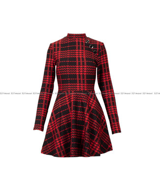 GUESS GUESS kledij - Kleedje MAJDA  BLACK AND RED CHECK - W0BK14KA330