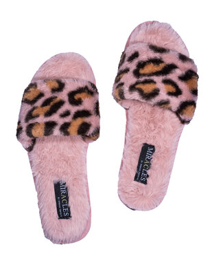 MIRACLES MIRACLES - Pantoffels leopard roos