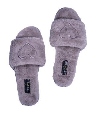 MIRACLES MIRACLES - pantoffels grijs