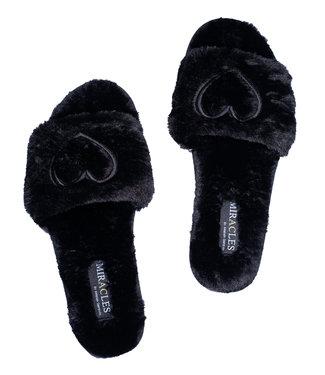 MIRACLES MIRACLES - Pantoffels zwart