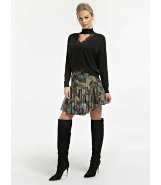 GUESS GUESS Kledij- GUESS Trui Fatima Turtle neck sweater W0BR0AZ2QT0 JBLK