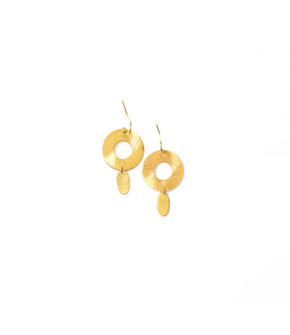 LAURENCE DELVALLEZ LD - 503 Pleated Earhook Gold