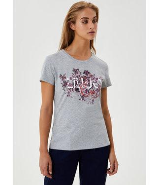 LIU JO LIU JO - LUI JO T-shirt met print en applicaties WF0148J5003T9204
