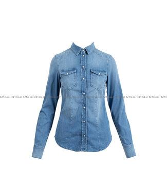 LIU JO LIU JO kledij - bloes DENIM  BLUE BASIC - -98%CO 2%EA  -UA1163-D4051 - 78212