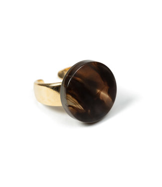LAURENCE DELVALLEZ LAURENCE DELVALLEZ  - ring LD - 172 Cotton Ring Brown