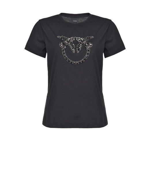 PINKO kledij - t-shirt QUENTIN 1 JERSEY DI CO - 1G1610 - Y4LX - Z99