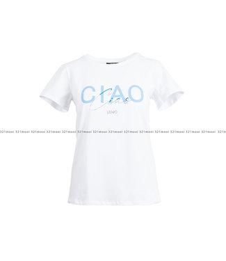 LIU JO LIU JO kledij - t-shirt JERSEY CO/EA STAMPE - BASIC T-SHIRT-94%CO 06%EA -TA1211-J5972 - T9779