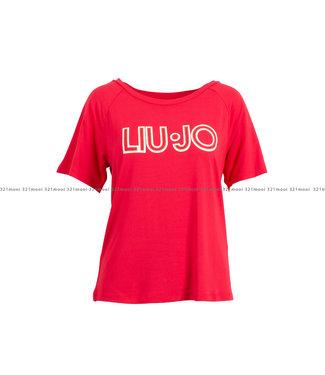 LIU JO LIU JO kledij - t-shirt JERSEY VI/EA ST. GLITTER - T-SHIRT-95%VI 5%EA  -TA1012-J7905 - 81761