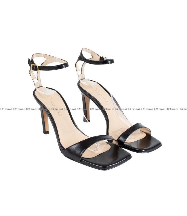 MARCH23 MARCH23 schoenen - sandalen mid heel mule  - Olivia - Black Leather