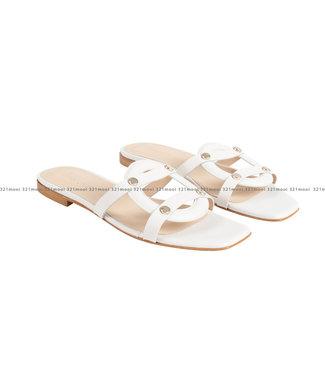 MARCH23 MARCH23 schoenen - slippers flat mule  - Luiza - Ivory Leather