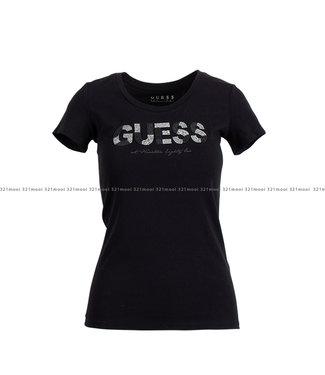 GUESS GUESS kledij - t-shirt SS RN MARTINA  - W1GI36J1300 - JBLK