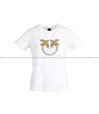 PINKO PINKO kledij - t-shirt QUENTIN 1 JERSEY DI CO - 1G1610 - Y4LX - LZC