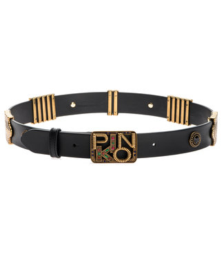 PINKO PINKO accessoires - riem ANTHEA METAL AND STONES L - 1H20VJ - Y6ZG - Z99