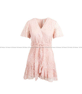 Loved by MIRACLES Loved by MIRACLES kledij - short pink lace dress - ACDRESS010006